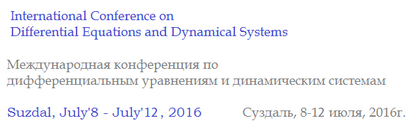 The International Conference on Differential Equations and Dynamical Systems 2016
