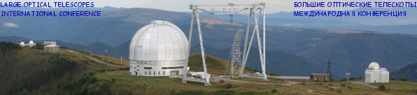 LARGE OPTICAL TELESCOPES